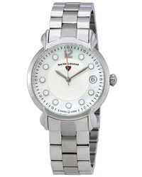 Swiss Legend Layla White Mother Of Pearl Dial Ladies Watch -16592sm-02 - Metallic