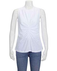 Victoria Beckham Ladies T-shirt White Front Tuck Tank