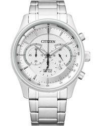 Citizen - Chronograph Quartz Silver Dial Watch -51a - Lyst