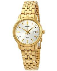 Seiko Neo Classic Silver Dial Watch - Metallic