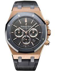 Audemars Piguet Royal Oak Leo Messi Automatic Chronograph Rose Gold Mens Watch - Metallic
