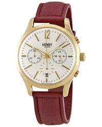 Henry London Holborn Chronograph White Dial Unisex Watch -cs-0070 - Metallic