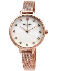 Kate Spade Metro Mesh Bracelet Watch - Pink