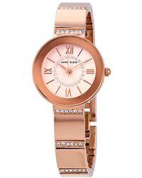 Anne Klein Rose Dial Rose Gold-tone Ladies Watch - Pink