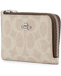 COACH Ladies Signature Zip Card Case - Purple