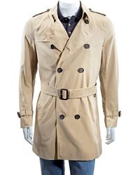 Burberry The Sandringham – Mid-length Trench Coat - Natural