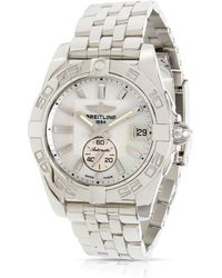 Breitling Pre-owned Galactic Automatic White Dial Unisex Watch - Metallic