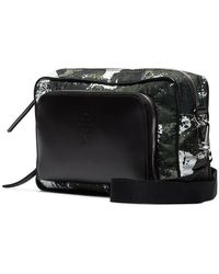 Marcelo Burlon Camouflage Crossbody Messenger Bag - Black