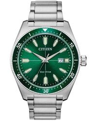 Citizen Eco-drive Green Dial Mens Watch -70x