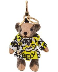 Burberry Women's Print Trench Thomas Bear Keychain - Multicolour