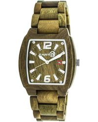 Earth Sagano Olive Wood Dial Olive Wood Watch - Green