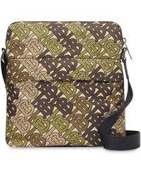 Burberry Monogram Print Nylon Crossbody Bag - Green