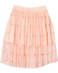 Stella McCartney Girls Hearts Embroidery Tulle Skirt - Pink