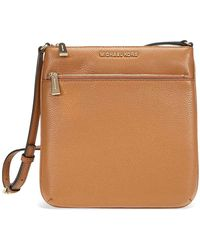 Michael Kors Open Box - Riley Small Flat Leather Crossbody - Acorn - Brown