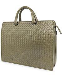 Bottega Veneta Intrecciato Briefcase - Green