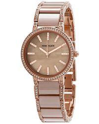 Anne Klein Quartz Crystal Ladies Watch - Metallic