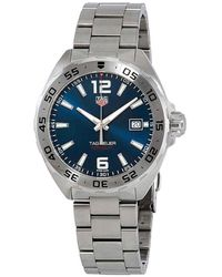 Tag Heuer Formula 1 Blue Dial Stainless Steel Mens Watch - Multicolour