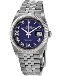 Rolex Datejust 36 Aubergine Diamond Dial Automatic Jubilee Watch - Metallic