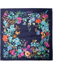 Ferragamo - Fiorile Floral-printed Silk Scarf - Lyst