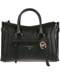 Michael Kors Black Ladies Carine Medium Bag Satchel