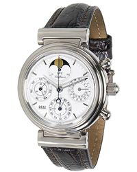 Iwc Pre-owned Da Vinci Perpetual Chronograph Automatic White Dial Mens Watch - Metallic