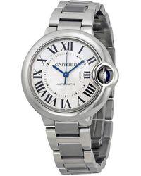 Cartier Ballon Bleu Automatic Silver Dial 33 Mm Ladies Watch - Metallic