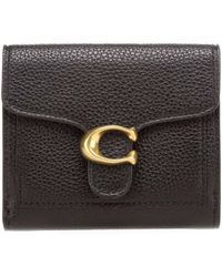 COACH Ladies Small Leather Tabby Wallet In Black
