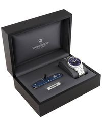Victorinox Alliance Blue Dial Stainless Steel Mens Watch
