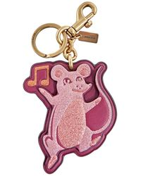 COACH Musical Mouse Keychain - Red