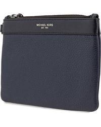 Michael Kors Blue Leather Travel Pouch
