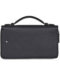 Montblanc Meisterstuck Full-grain Leather Travel Companion - Black