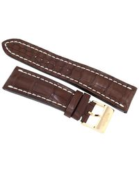 Breitling Brown Leather Strap With A Tang Clasp 24 Mm / 20 Mm