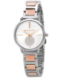 Michael Kors Portia Quartz Silver Dial Ladies Watch - Metallic
