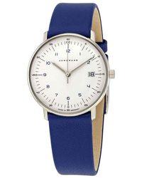 Junghans Max Bill Ladies Quartz White Dial Ladies Watch - Blue