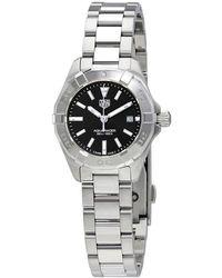 Tag Heuer - Aquaracer Black Dial Ladies Watch - Lyst