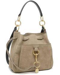 Chloé Grey Medium Tony Bucket Bag