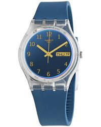 Swatch Blue Away Quartz Unisex Watch