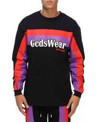 Gcds Logo Printed Sweatshirt - Black