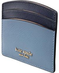 Kate Spade Ladies Spencer Cardholder In Blue