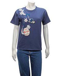 Michaela Buerger Pig On Moon T-shirt - Blue