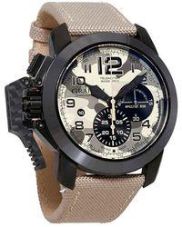 Graham Oversize Black Arrow Chronograph Automatic Mens Watch