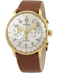 Junghans Meister Telemeter Chronograph Automatic Silver Dial Mens Watch - Metallic
