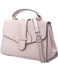 Michael Kors Soft Pink Crossgrain Leather Bleecker Medium Satchel