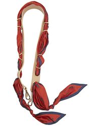Chloé Ladies Leather Bag Strap Scarf Strap In Red