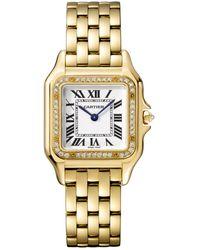 Cartier Panthere De Silver Dial Ladies Medium Watch - Metallic