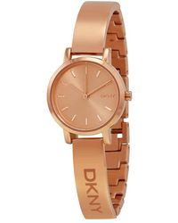 DKNY Rose Dial Rose Gold Pvd Ladies Watch - Multicolor