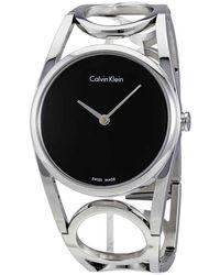 Calvin Klein Black Dial Stainless Steel Watch