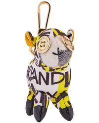 Burberry Wendy The Sheep Graffiti Print Cotton Charm- Yellow/ Multi