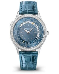Patek Philippe Complications World Time Automatic Diamond Blue Dial Watch -014