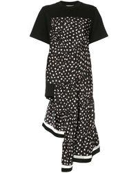 3.1 Phillip Lim Asymmetric Floral Panel T-shirt - Black